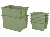 Stack-nest bins