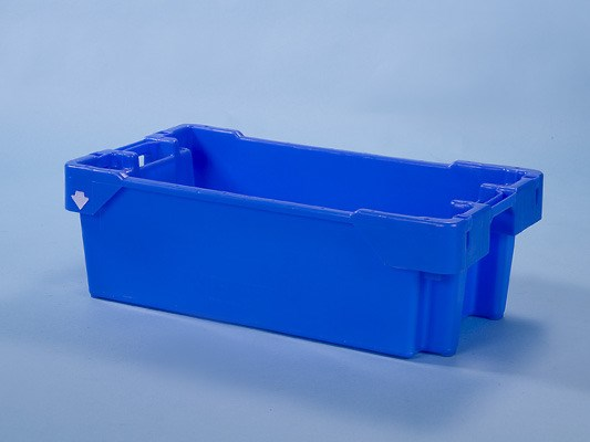 Filletting bin with blue Fish box 60 litre