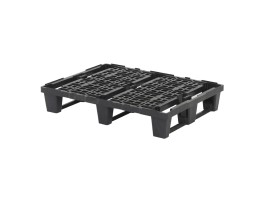 Plastic pallet - 800 x 600 mm (3 runners - nestable)