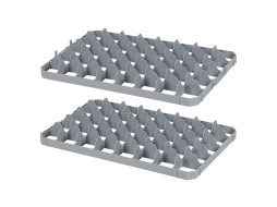 Set of 40 space subdivisions - BASIC glass crates - size 69 x 67 mm