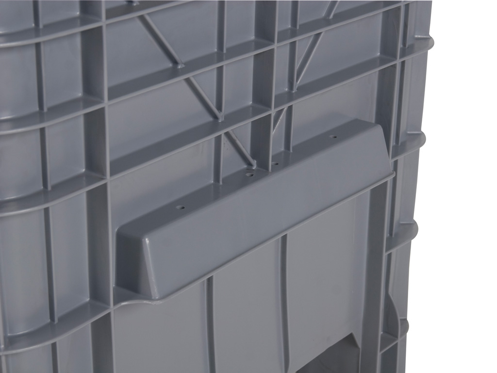 Mini box plastic palletbox 1040 x 640 mm 4 wheels for Pallet wall on wheels