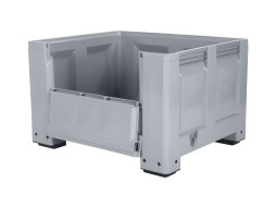 BIG BOX plastic palletbox - 1200 x 1000 mm - with drop door - on 4 feet