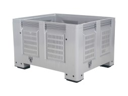 BIG BOX plastic palletbox - 1200 x 1000 mm - perforated - on 4 feet
