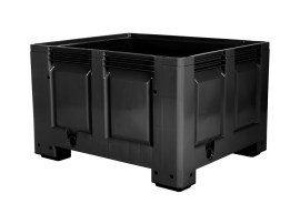 BLACK LINE - plastic palletbox - 1200 x 1000 mm - on 4 feet
