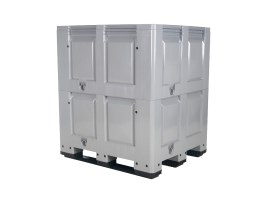 XL plastic palletbox - 1200 x 1000 mm - 3 runners - height variable