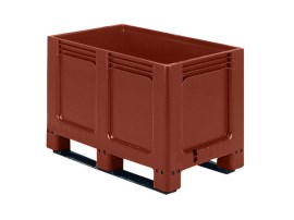 GEO BOX plastic palletbox - 1000 x 600 mm - closed, 2 runners