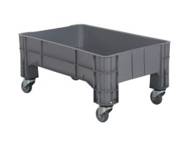 MINI BOX plastic palletbox - 1040 x 640 mm - 4 wheels