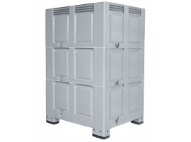 XXL plastic palletbox - 1200 x 1000 mm - on 4 feet - height variable