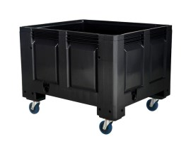 BLACK LINE - plastic palletbox - 1200 x 1000 mm - 4 wheels