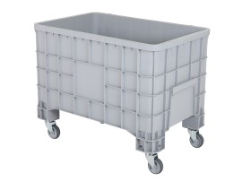 MINI BOX plastic palletbox - 1000 x 635 mm - 4 wheels
