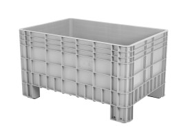 Plastic palletbox - 1200 x 800 mm - on 4 feet