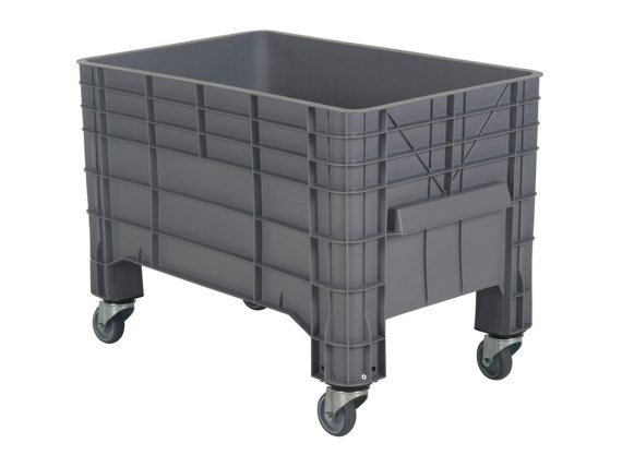 MINI BOX plastic palletbox - 1040 x 640 mm - 4 wheels 72.G3MINI.61.GR