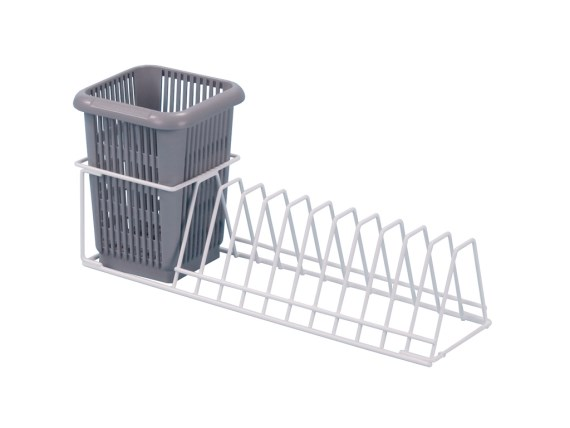 Plate insert rack with cutlery container 50.UT.350.CBS