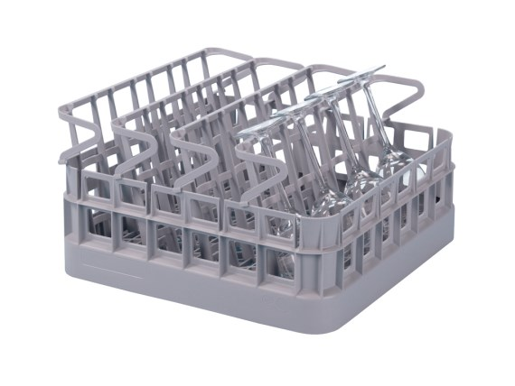 Bistro basket - 400 x 400 mm - with 4 glass insert racks