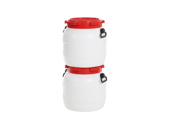 Plastic drums - wide-mouth drum stacked