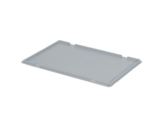 Lay-on lid - 600 x 400 mm - grey 30.600.OD.1