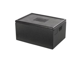 Euronorm insulated box with lid (stackable) - 685 x 485 x H 360 mm