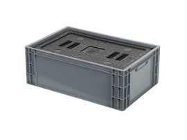Insulated box-in-box with lid - 600 x 400 x H 223 mm - stackable