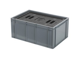 Insulated box-in-box with lid - 600 x 400 x H 273 mm - stackable