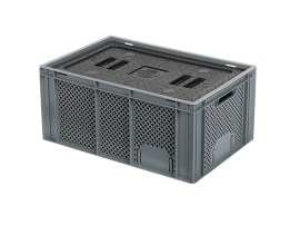 Insulated box-in-box with lid - 600 x 400 x H 274 mm - stackable