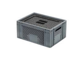 Insulated box-in-box with lid - 400 x 300 x H 193 mm - stackable
