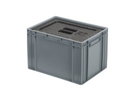 Insulated box-in-box with lid - 400 x 300 x H 273 mm - stackable