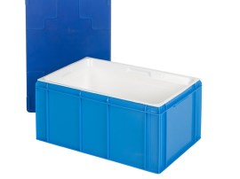 Gastronorm insulated box with lid (stackable) - 600 x 400 x H 274 mm