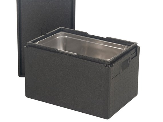 Gastronorm insulated box with lid (stackable) - 600 x 400 x H 320 mm 46.10053