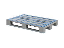Euro pallet - L1 - 1200 x 800 mm - without rims - with anti-slip runners