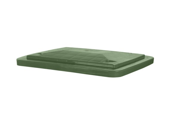 Lay-on lid for transport bins 210 litre - green 80283520