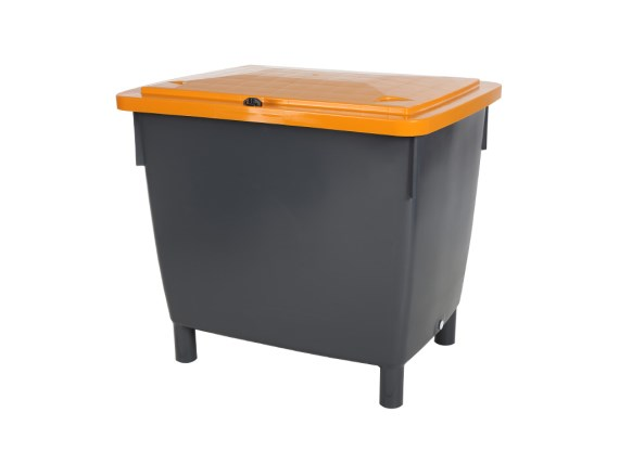 Multi-Purpose Container 400 litre - grey with orange lid 81015850