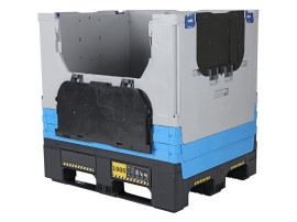 MAGNUM Optimum 1210 S - foldable large container - 1200 x 1000 mm - with 2 optiframe spacers and 2 drop doors