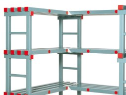Shelf supports for plastic racks