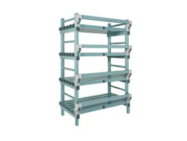 Plastic rack (Nautical rack) - 1000 x 400/490 x H 1750 mm