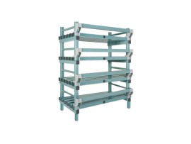 Plastic rack (Nautical rack) - 1000 x 400/490 x H 1450 mm