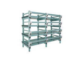 Plastic rack (Nautical rack) - 1500 x 400/490 x H 1450 mm