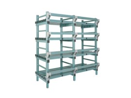 Plastic rack (Nautical rack) - 1500 x 400/490 x H 1750 mm
