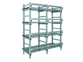Plastic rack (Nautical rack) - 1500 x 400/490 x H 2050 mm