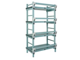 Plastic rack (Nautical rack) - 1000 x 400/490 x H 2050 mm