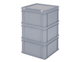 Stacking bin for coffee machine - 400 x 400 x H 640 mm