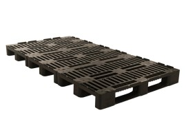 Plastic pallet - H1-TRIO ECO - 2400 x 1200 mm (with rims - 7 runners)