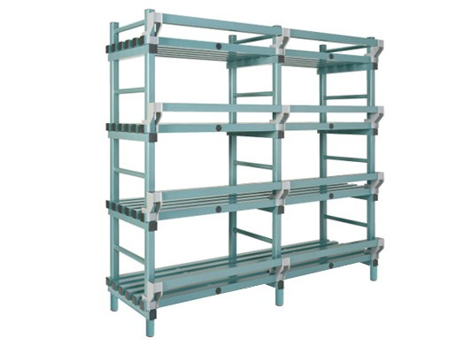 Plastic rack (Nautical rack) - 2000 x 400/490 x H 2050 mm KRN20040205