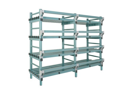 Plastic rack (Nautical rack) - 2000 x 600/690 x H 1750 mm KRN20060175