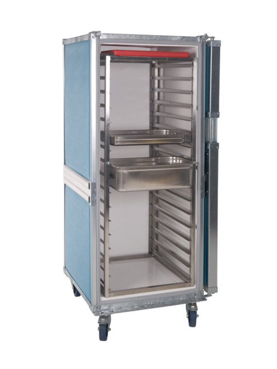 Insulated container - wheeled - Insulated container with stainless steel insert tray