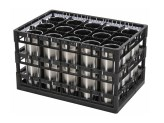 PA washing tray - heavy duty - top frame + interim frame - triple-divider configuration - Techrack