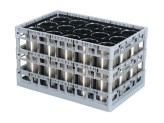 PP washing tray - top frame + interim frame - triple-divider configuration - Techrack