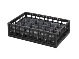 PA washing tray - heavy duty - top frame - single-divider configuration - Techrack