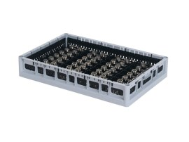 PP washing tray - side walls - low divider - Techrack