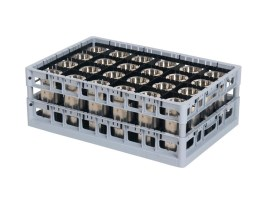 PP washing tray - top frame - double-divider configuration - Techrack