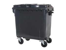 Four-wheeled 770 litre waste container - grey